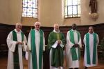 Les prêtres jubilaires à l'évêché